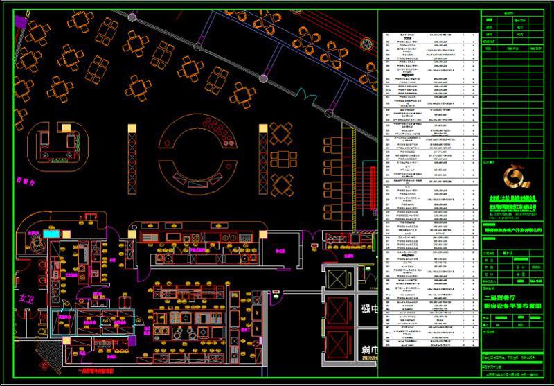 酒店厨房设计图具备哪些要求-平面设计