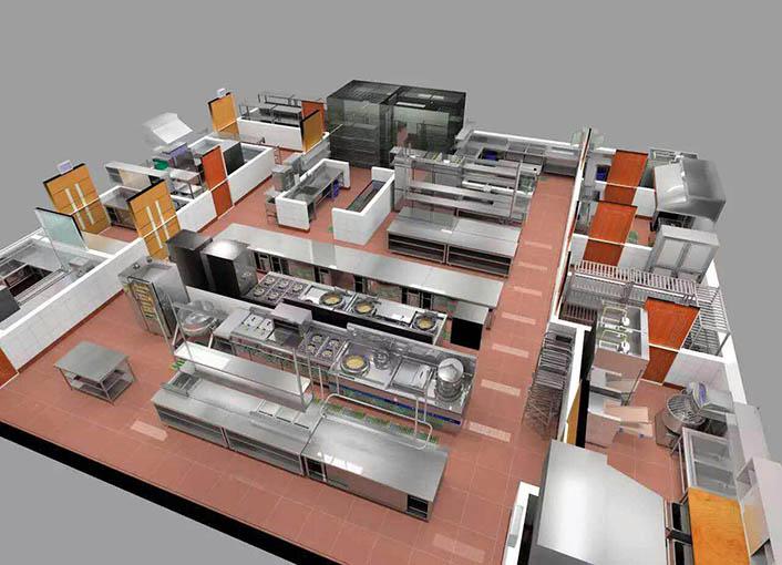 开放式食堂的后厨设计需要注意哪些因素?