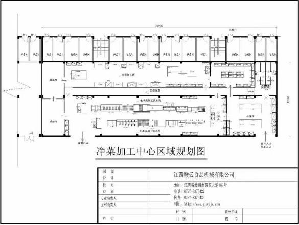 净菜加工中心区域方案图-中央厨房设计