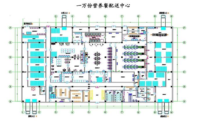 营养配送中心方案图-中央厨房设计