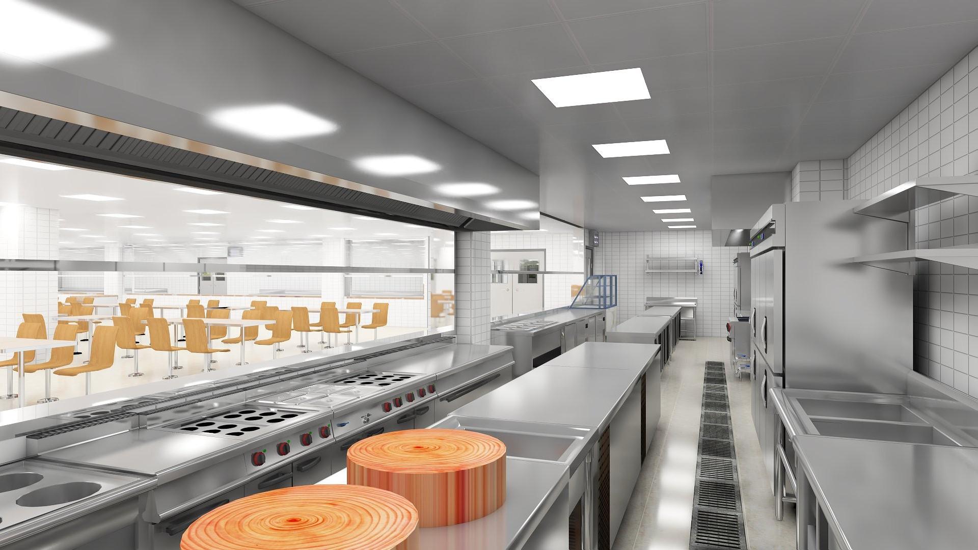 商用厨房设计-售餐间