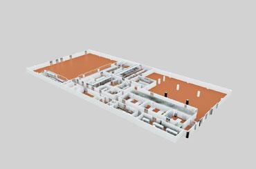 商用厨房设计-鸟瞰图