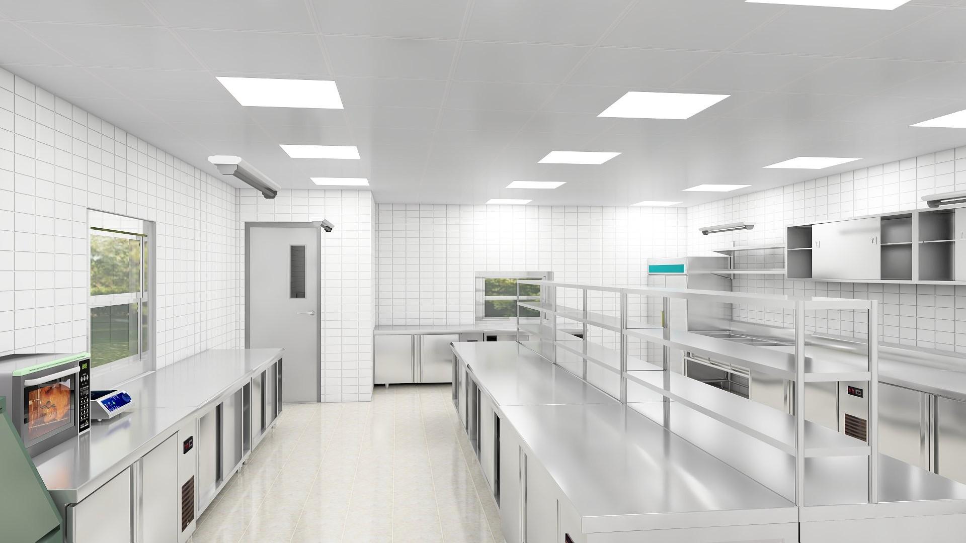 商用厨房设计-后厨空间利用最大化