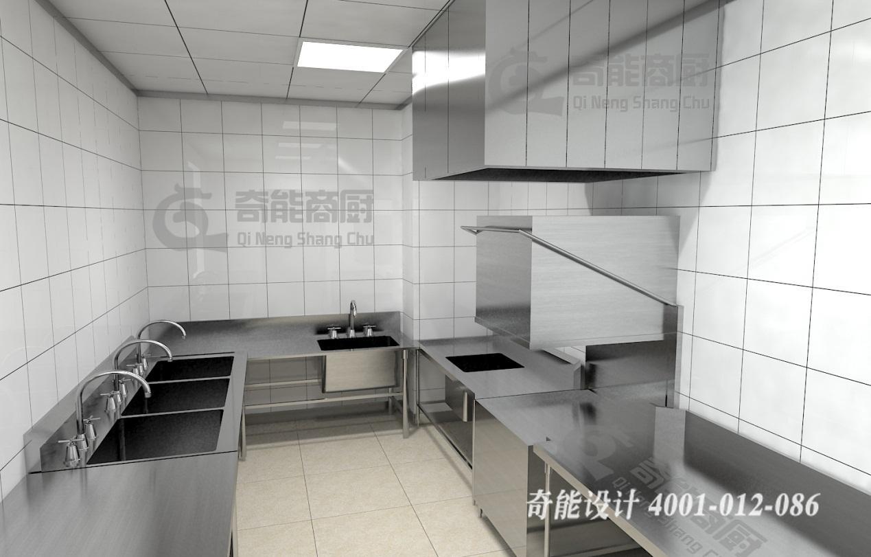 饭店厨房设计摆放位置