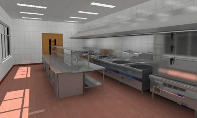 小饭店厨房布局设计-地砖