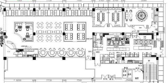 小饭店厨房布局设计图