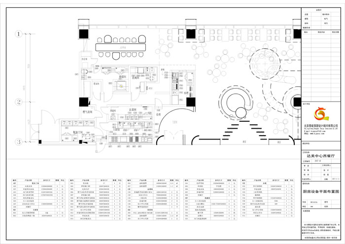 达美中心西餐厅厨房工程设计