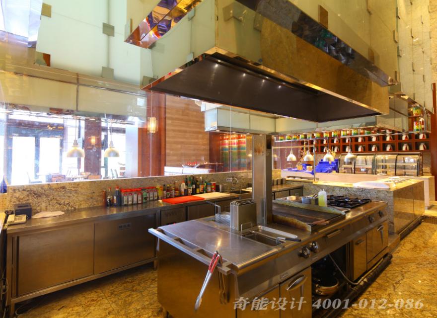 酒店开放式厨房设计效果图