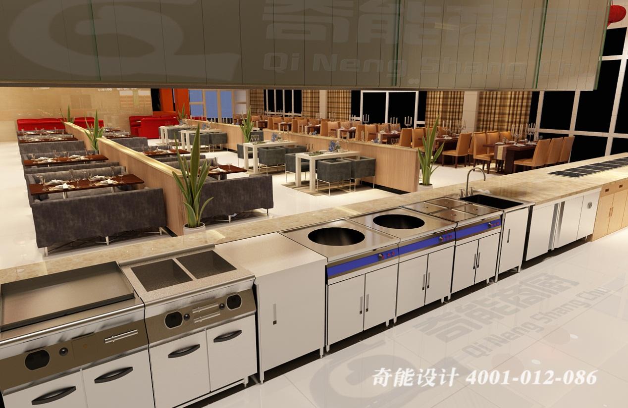 酒店3d厨房设计
