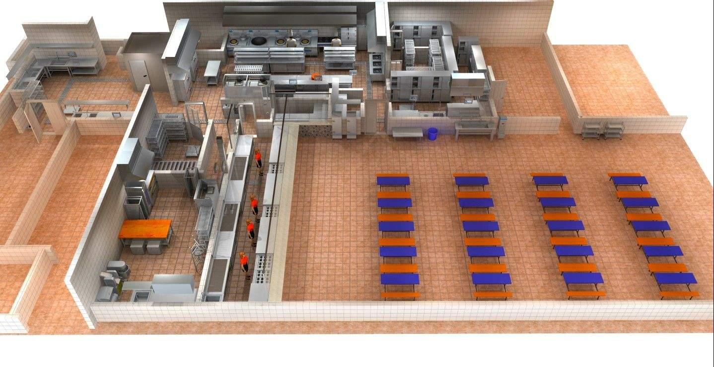 餐厅与厨房面积占比-整体净面积计算