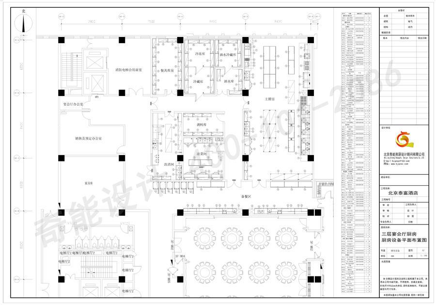 酒店宴会厅厨房平面图