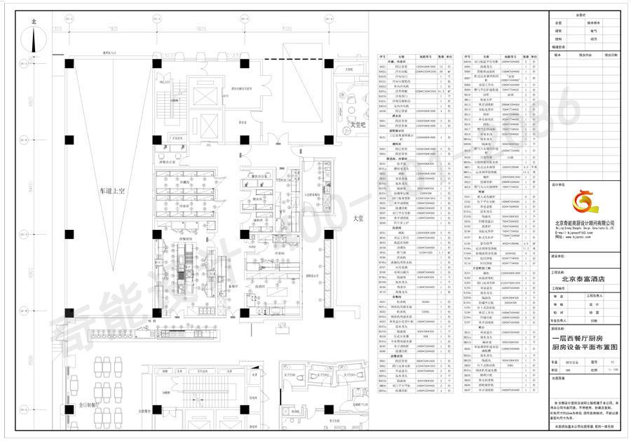 酒店西餐厨房平面图