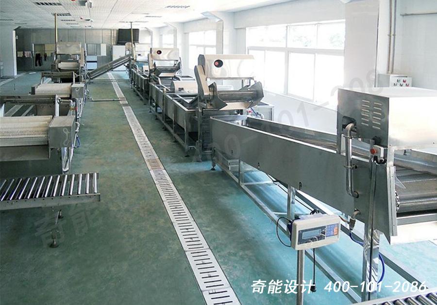 中央厨房蔬菜清洗生产线照片